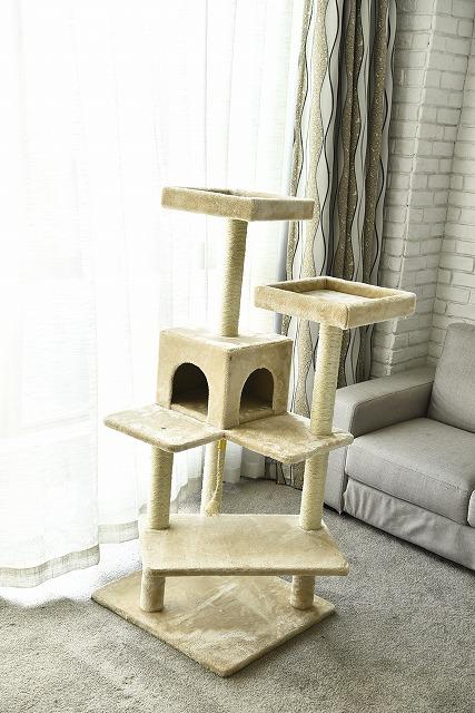 猫タワー 大人気 キャットタワー 組み立て簡単 4段タイプ ZJS15640 飽きの来ない機能 ZJS15640 ペッツラブ 当店オリジナル 大人気 インテリア 組み立て簡単, DreamHouseApex:6a7d2ce5 --- knbufm.com