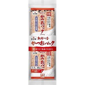 一本釣りかつお使用 ●日本正規品● ヤマキ 新鮮一番かつおパック 2.5g×10袋入 大規模セール