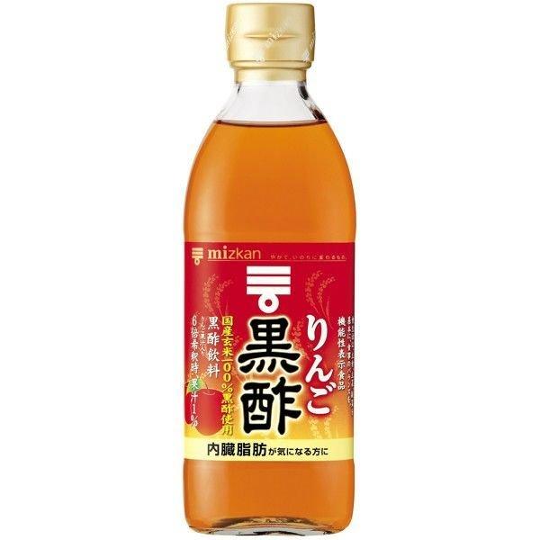 国産玄米を100%使って醸造 ミツカン りんご黒酢 500ml