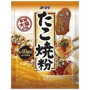 大阪風のたこ焼がご家庭で 日本製粉 オーマイ たこ焼き粉 信頼 注目ブランド 200g