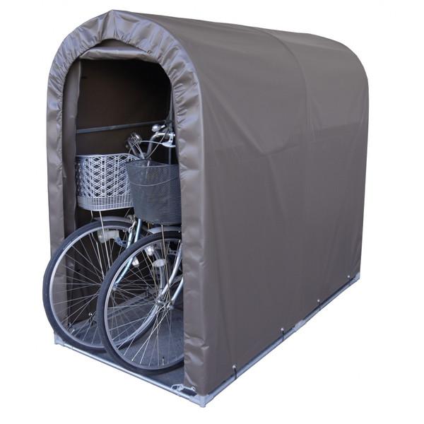 自転車ハウス 自転車収納 送料無料 南栄工業 サイクルハウス 2台用SB 一式 (骨組み+シート)
