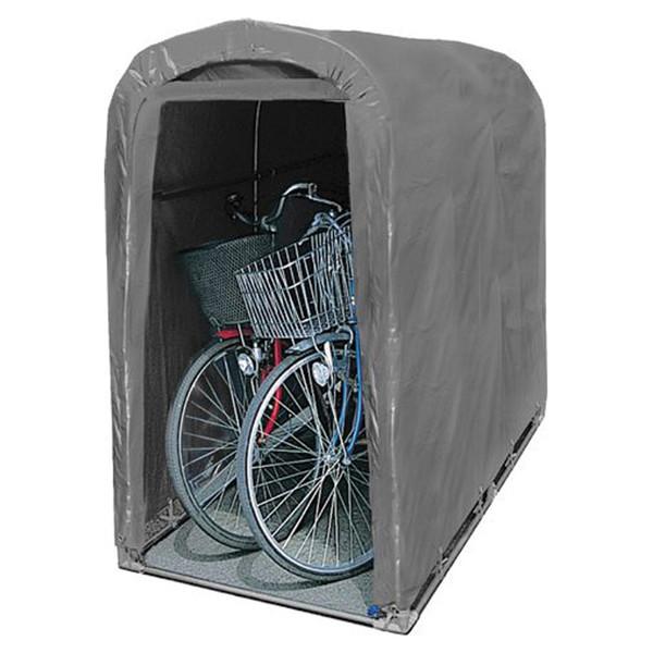 入口ファスナー付巻上式 自転車ハウス 大幅値下げランキング 賜物 自転車収納 送料無料 南栄工業 シート 一式 サイクルハウス 骨組み 2台用GU