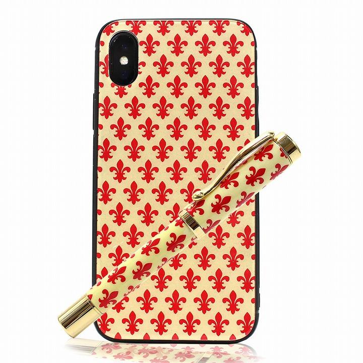 アイフォンケース 万年筆 セット iphone x イタリア製紙 日本製 スマホケース luminio ルミニーオ itl0200-5red 2019 春夏 新作