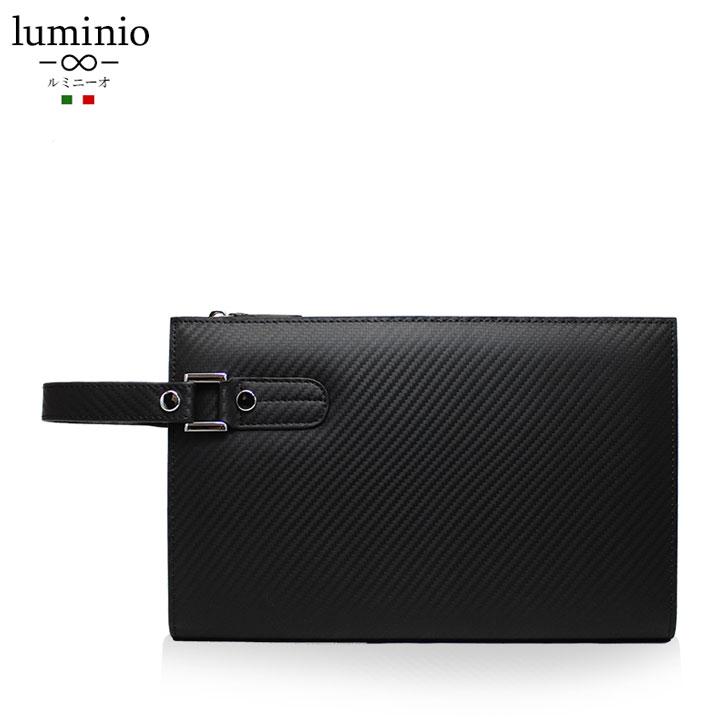 562a1a9b67a3 セカンドバッグ 本革 メンズ ブランド luminio ルミニーオ イタリアン カーボン レザー lufu-359072 2019 彼氏