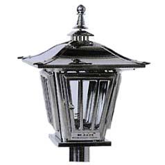 ステンレス製 燈籠型ローソク立ガラス風防タイプ AY-3482 【送料無料】