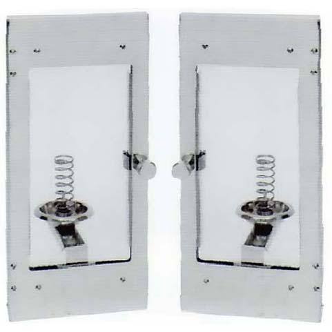 石製ローソク立用 ガラス付風防扉観音開き平型タイプ左右1対セット(WD-SK)