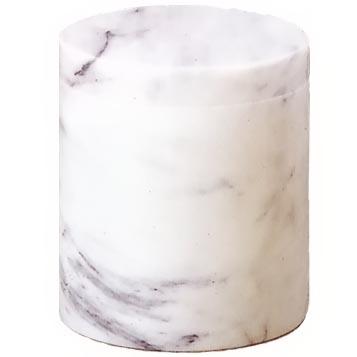 天然石骨壷 白大理石 2.3寸
