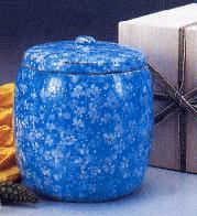 手造り骨壷 葉月窯 氷雪藍小花 2.5寸