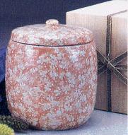 手造り骨壷 葉月窯 氷雪紅小花 2.5寸