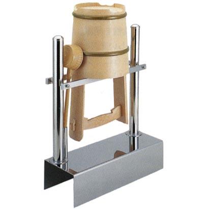 ステンレス製 手桶収納棚 1個用 ワンタッチ型 【代金引換・後払い決済不可】