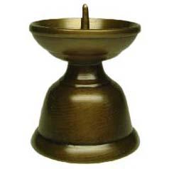 【ペット用仏具】 <BR>ペット用ローソク立 小 真鍮・上色