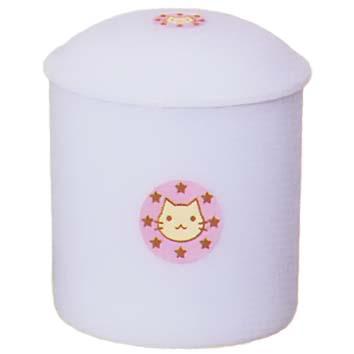 【ペット用仏具】ペット用骨壷 ネコチャン 2.5寸