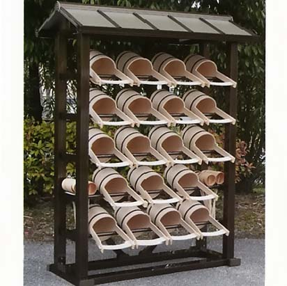 UACJ金属加工 アルミ製 手桶収納棚 1型 フリータイプ 【送料無料】【代金引換・後払い決済不可】