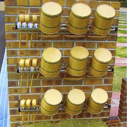 ステンレス製 手桶収納棚 壁面取付型 3個用 【代金引換・後払い決済不可】