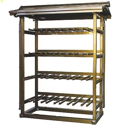 アルミ製 手桶収納棚 20個収納用 【大型送料が必要です】【代金引換・後払い決済不可】