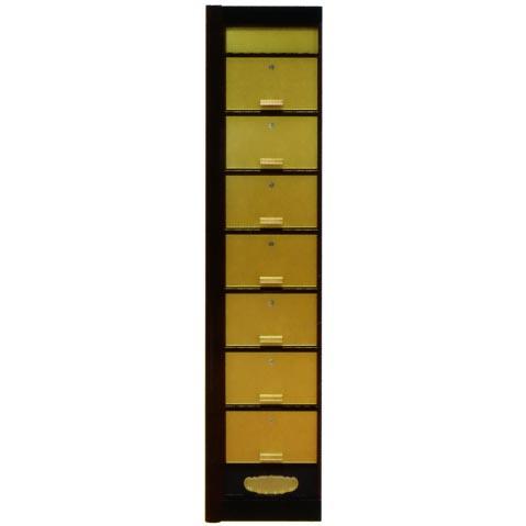 UACJ金属加工 アルミ製 ユニット連結式合葬壇 GSD-7L型(金色)・左端用 【送料無料】【代金引換・後払い決済不可】