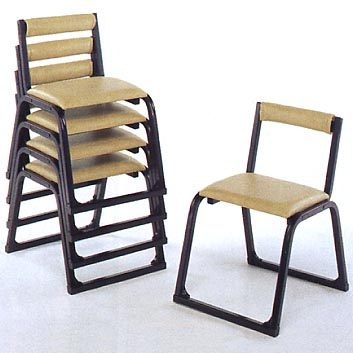 UACJ金属加工 アルミ製 本堂用椅子 1-TA型 (黒色/背付)5脚セット 【送料無料】【代金引換・後払い決済不可】