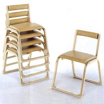 UACJ金属加工 アルミ製 本堂用椅子 1-JA型 (香色/背付)5脚セット 【送料無料】【代金引換・後払い決済不可】