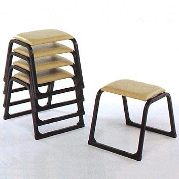 UACJ金属加工 アルミ製 本堂用椅子 1-TB型 (黒色)5脚セット 【送料無料】【代金引換・後払い決済不可】