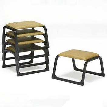 UACJ金属加工 アルミ製 本堂用椅子 1-LTB型 (黒色/低座タイプ)5脚セット 【送料無料】【代金引換・後払い決済不可】
