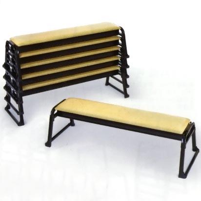UACJ金属加工 アルミ製 本堂用椅子(長椅子3人掛け用) 背もたれ無 2脚セット 【送料無料・代引不可】