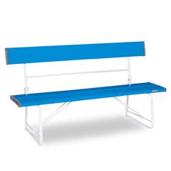 テラモト ベンチ(背付)1500 青色 【大型送料が必要です】【代金引換・後払い決済不可】