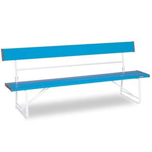 テラモト ベンチ(背付)1800 青色 【大型送料が必要です】【代金引換・後払い決済不可】