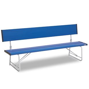 テラモト コマーシャルベンチ1800 折畳 青色 【大型送料が必要です】【代金引換・後払い決済不可】