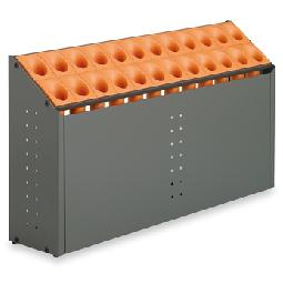 テラモト 傘立 オブリークアーバンC24 24本立 オレンジ 【大型送料が必要です】【代金引換・後払い決済不可】