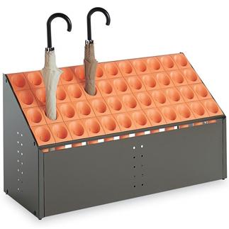 テラモト 傘立 オブリークアーバンC48 48本立 オレンジ 【大型送料が必要です】【代金引換・後払い決済不可】