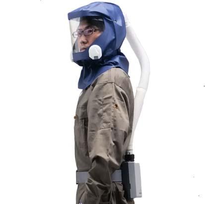 シゲマツ 電動ファン付呼吸用保護具 一定流量型PAPRウインディ W80シリーズ W80E3H1 【代金引換・後払い決済不可】