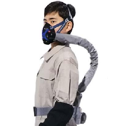 シゲマツ 電動ファン付呼吸用保護具 呼吸連動型PAPRシンクロ 隔離式 Sy20G2(B1) 【代金引換・後払い決済不可】