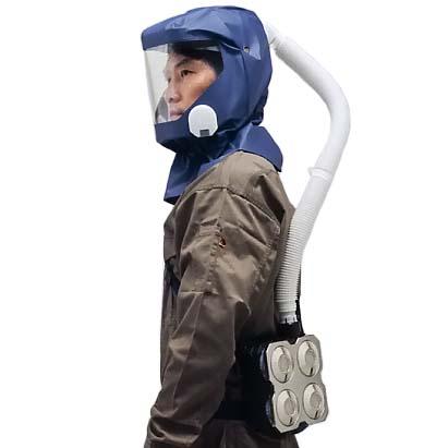 シゲマツ 電動ファン付呼吸用保護具 一定流量型PAPRウインディ W28シリーズ W28J3/OVH1 【代金引換・後払い決済不可】