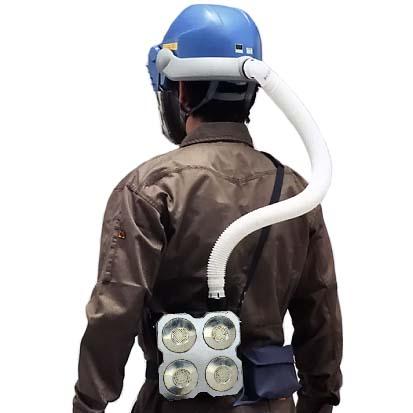 シゲマツ 電動ファン付呼吸用保護具 一定流量型PAPRウインディ W28シリーズ W28J3/OVS3 【代金引換・後払い決済不可】