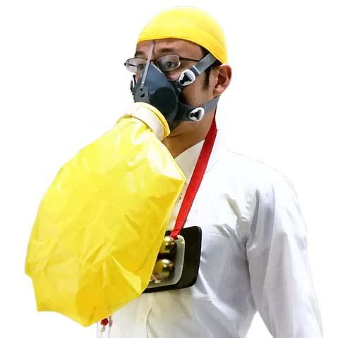 シゲマツ <BR>火災避難用マスク(自給式呼吸保護具) <BR>ダッシュ10 2 EBA-10 (#73050) <BR>【代金引換・後払い決済不可】
