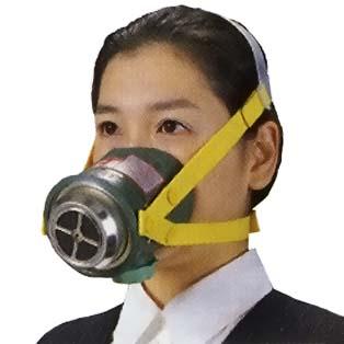 シゲマツ 火災避難用マスク(簡易防煙マスク) ミニケムラー3 (#07060)