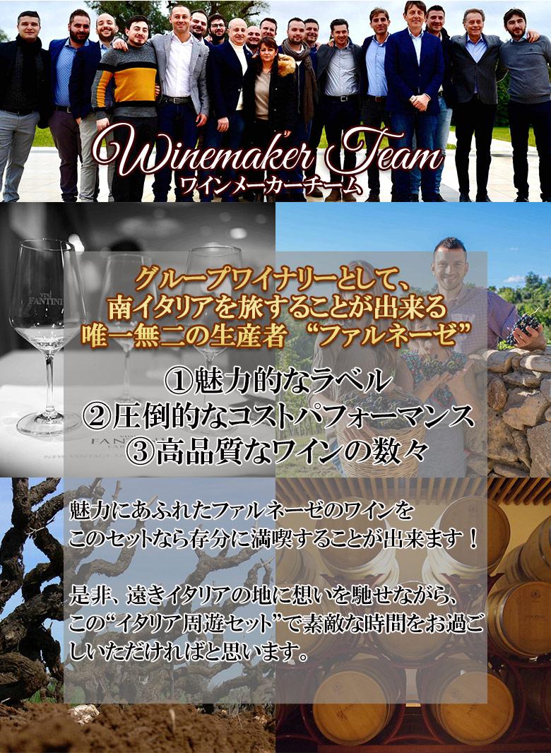 イタリア周遊!赤白6本セットファルネーゼグループ送料無料赤ワイン白ワインワインセットwineギフトプレゼント750MLシチリアバジリカータプーリアカンパーニャアブルッツオトスカーナ