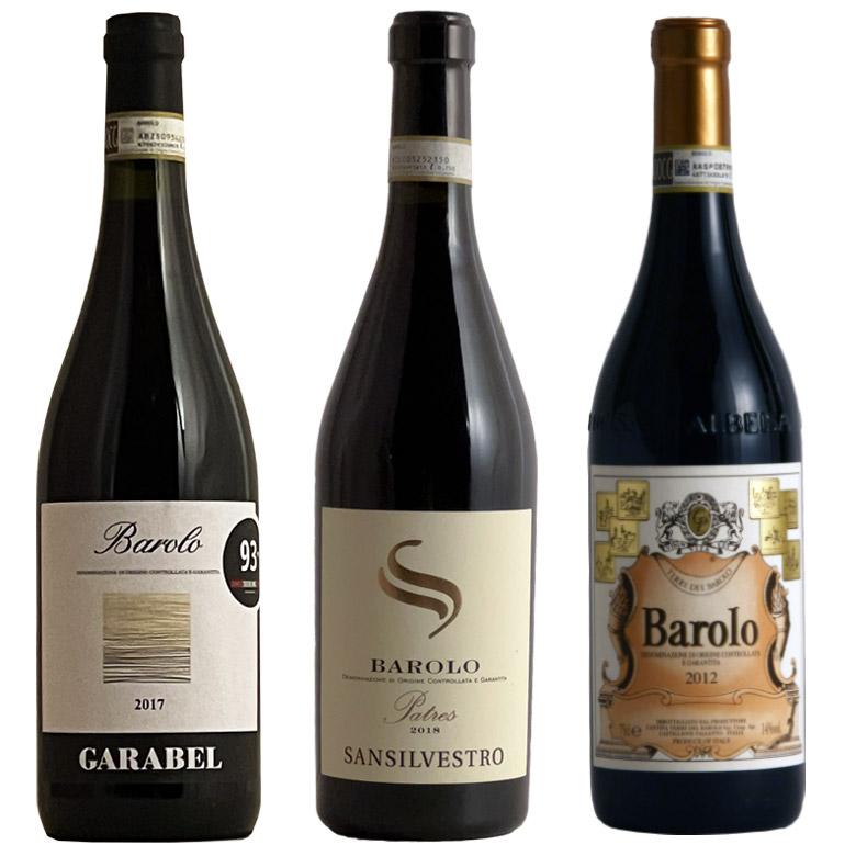 ワインの王バローロ飲み比べ 3本 セット 赤ワイン ワイン イタリア 赤 ワインセット 【送料無料】 ギフト プレゼント 750ML