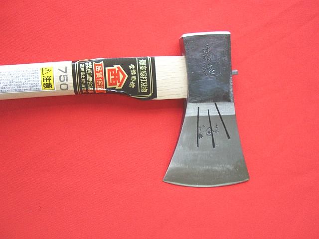 西山商会特製 土佐鍛造斧チェンソー用タップルカン打斧 750g 45cm柄付 カバー付