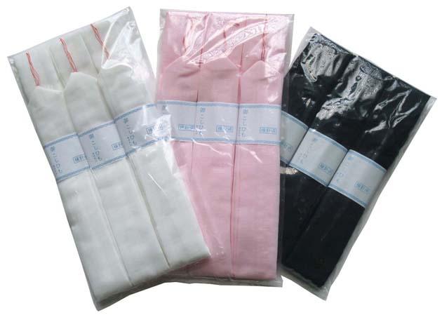 【メール便OK】! 着付けの基本的な必要数 3本組!! 白・ピンク・黒のそれぞれ3種類♪  3本組モス腰紐(ウール混/レーヨン腰ひも)(こしひも)