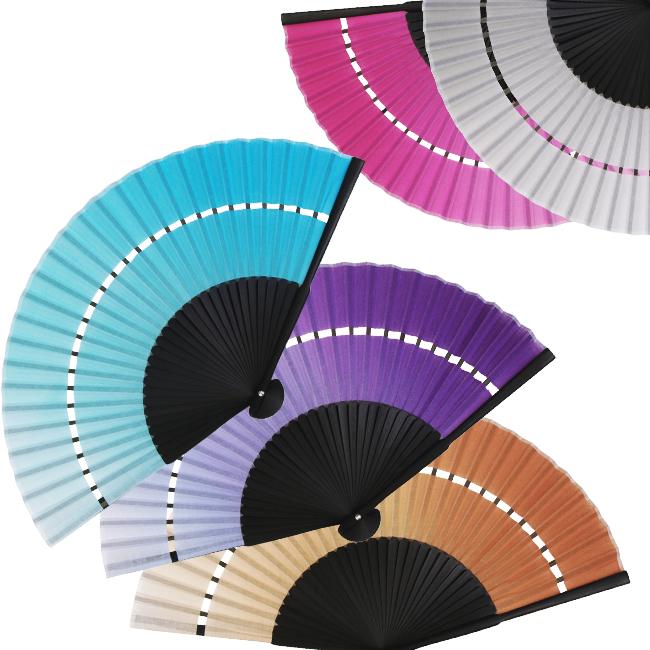 ☆オシャレなグラデーションの扇子☆ ギフトに最適 お手頃価格 二段張り扇子-濃淡のグラデーション扇子 木綿素材 ピンク 男女兼用-5色-水色 今季も再入荷 紫 グレー 茶 オンラインショッピング