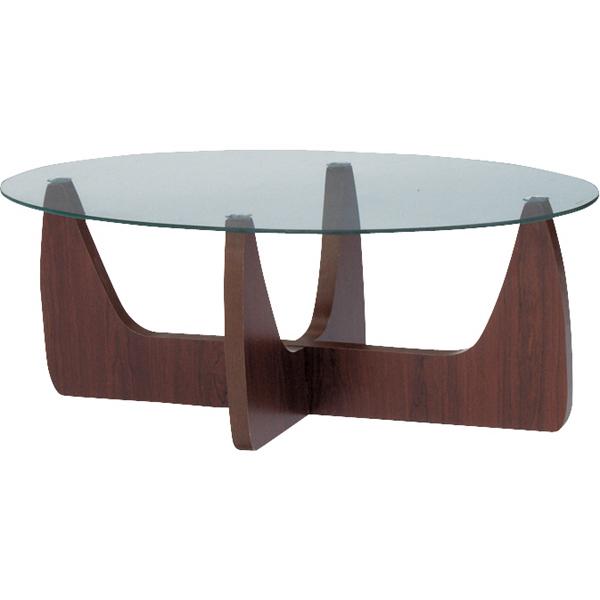 【組立家具】組み立て簡単♪楕円形テーブル☆2WAYで使えるオーバル型☆ センターテーブル