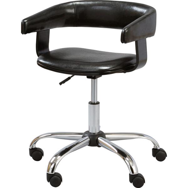 【組立家具】キャスター付きデスクチェアパソコンチェア オフィスチェアー