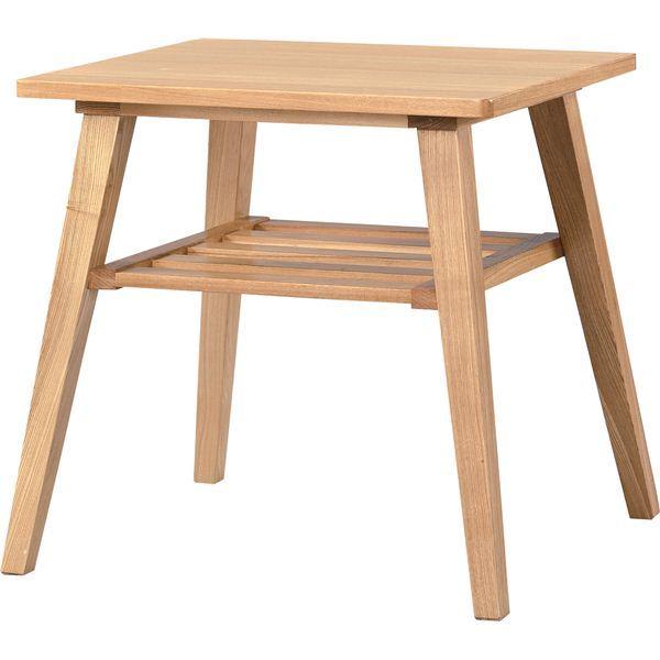 サイドテーブル 【モティ】 長方形 木製 棚収納付き RTO-743TNA ナチュラル
