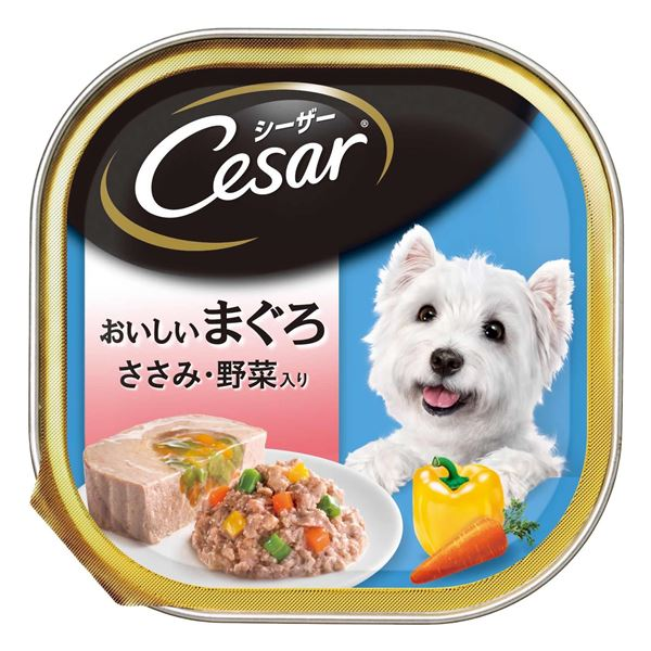 (まとめ)シーザー おいしいまぐろ ささみ・野菜入り 100g【×96セット】【ペット用品・犬用フード】ds-2162211