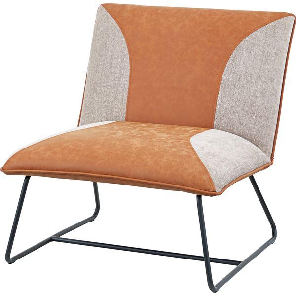 1人掛 椅子 キャメル W72×D78×H77×SH42cm 【組立品】
