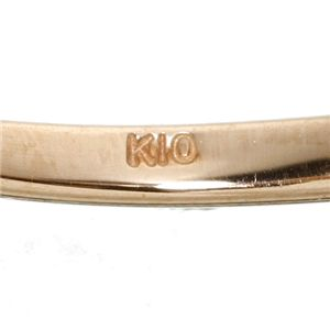 K10ハートダイヤリング 指輪 ピンクゴールド 13号vNmO8n0w
