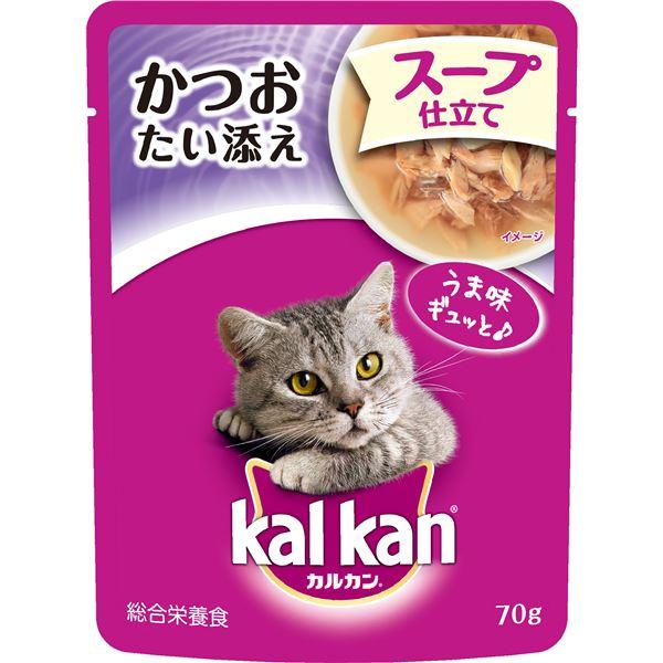 (まとめ)カルカン パウチ 1歳から スープ仕立て かつおたい添え 70g (ペット用品・猫フード)【×160セット】