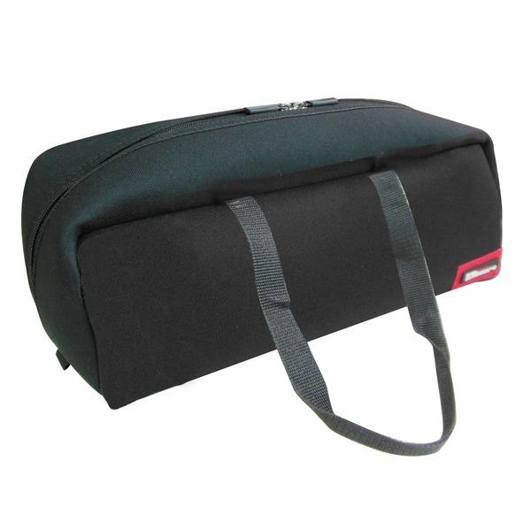 (業務用20セット)DBLTACT トレジャーボックス(作業バッグ/手提げ鞄) Lサイズ 自立型/軽量 DTQ-L-BK ブラック(黒) 〔収納用具〕