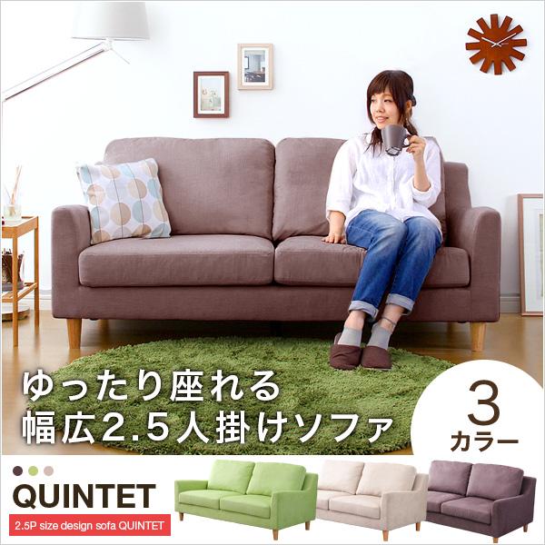 2.5Pデザインソファ【クインテット-quintet-】 西海岸 ej-on5008